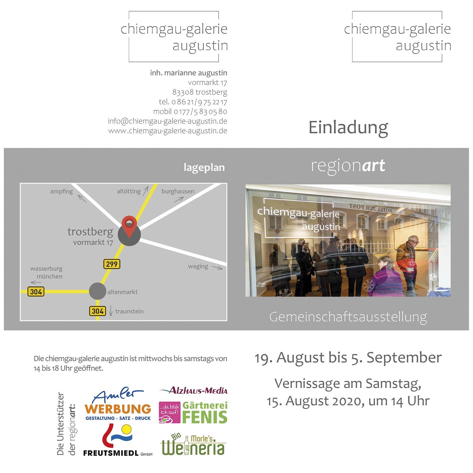 chiemgau-galerie augustin | Gruppenausstellung | John Schmitz