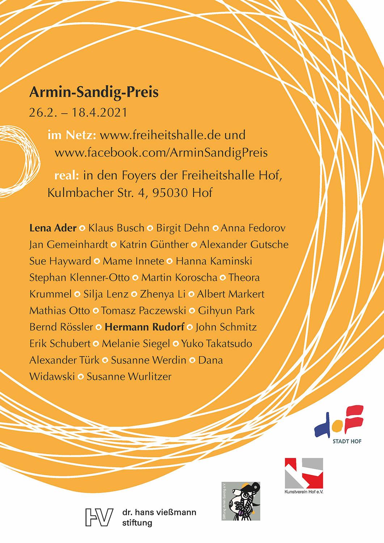 Armin Sandig Preis  | Gruppenausstellung | John Schmitz