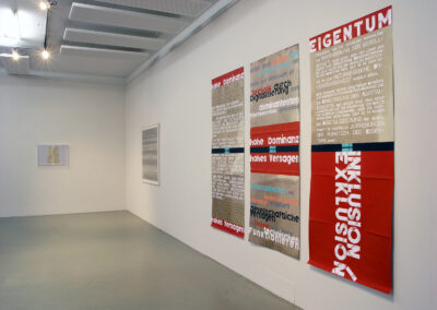 Ausstellungsansicht | meins - deins - keins | Foto: Uli Reiter